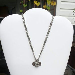 Cookie Lee double ball chain Necklace 15""